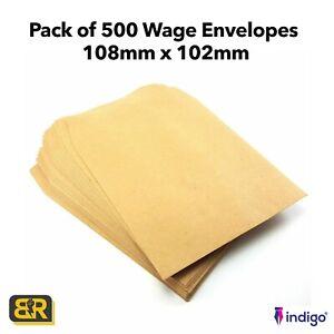 Plain Wage Envelopes 500 Square Brown Envelopes
