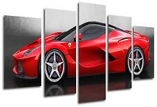 Cuadro Moderno Fotografico Coche Ferrari Rojo, 165 x 62 cm ref. 26330