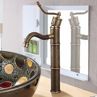 Deck Montierte Bad Wasserhahn Antik Messing Waschbecken Waschtischarmatur