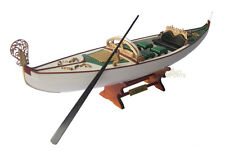 Display Wooden Gondola Model Boat