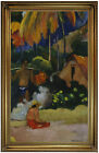 Gauguin Landscape in Tahiti 1892 Wood Framed Canvas Print Repro 19x32