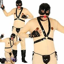 *Mens Bondage Gimp Suit Fetish Stag Do Funny Novelty Fancy Dress Costume Outfit*