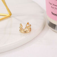 Women Punk Style Crown Ear Wrap Earring Cuff Earrings Stud Clip Jewelry L