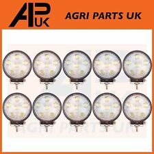 10x 18W LED work Light Lamp 12V Flood Beam 24V Round Trailer Offroad 4X4 Digger