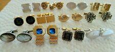 Sterling Swank 12 Pair Vintage Mod Cufflinks Lot Dante