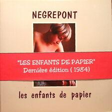 """RARE ALBUM PHOTOGRAPHIQUE """" Les Enfants de Papier"""" par NEGREPONT"""