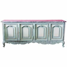 Large Louis XV Style Gustavian Style Marble-Top Sideboard