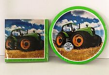 Tractor Paper Napkins & 8 Paper Plates Kids Country Farm Trucks Kids Party