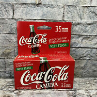 Vintage Coca Cola Indoor Outdoor 35mm Camera with Flash