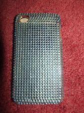 Funda Iphone 4 con Protector de Pantalla Estuche Duro Blue Sparkle