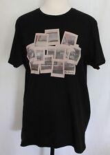 BEN SHERMAN ~ Black Crew Neck Cotton T-Shirt w Mini Car Polaroid Print L