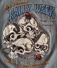 Vintage Biker Laconia 80th Bike Rally 2003 Tee Shirt Skuls Large Motorcycle NY