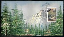 "1992 Alaska Highway 50th Anniversary FDC #2635 - HAND PAINTED by ""HAM"""