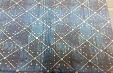 "FLANNEL BACK VINYL TABLECLOTH 52"" x 104"" (8-10 ppl) WHITE & BLUE by AP"