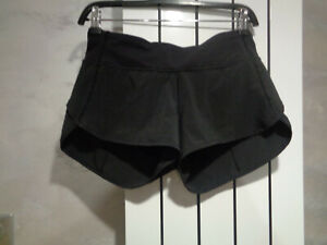 Lululemon Run Speed Black Short Block-It Pocket Size 4