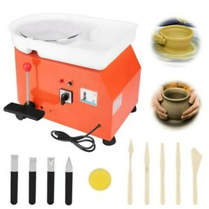 25CM 350W 110V Electric Pottery Wheel Machine Ceramic Work Clay Art Craft US