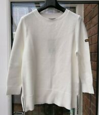 BNWT Womens Barbour International Apex Knit Jumper UK10 12 white rrp£75