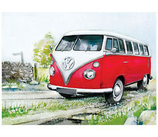 Large VW Camper Lane Vintage Metal Tin Sign Poster Bar Garage Wall Decor 40x30
