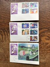 Grenada  Disney Christmas 1981 Set Of Three First Day Covers