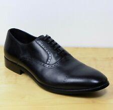 M&s Echtleder Schnürschuhe Oxford Brogue Schuhe ~ Gr. 12 (47) ~ schwarz (UVP £ 79)