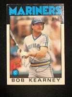 BOB KEARNEY 1986 TOPPS AUTOGRAPHED SIGNED AUTO BASEBALL CARD 13 MARINERS