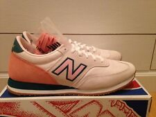 NEW J.CREW NEW BALANCE 620 SNEAKERS SIZE 9 SHELL SALMON PINK BEIGE GREEN IVORY