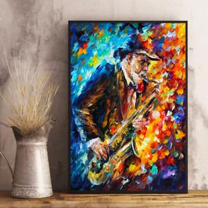 Old Saxophone Artist Blending Colours Music Lovers Vintage Decor Poster No Frame