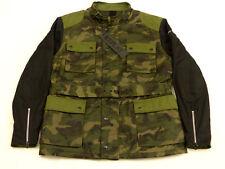 Nuevo Replay Azul Vaquero Informal Chaqueta Abrigo Parka Camuflaje M65 Militar