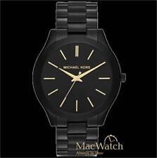 Michael Kors Damen Uhr Slim Runway MK3221 Edelstahl, schwarz NEU OVP