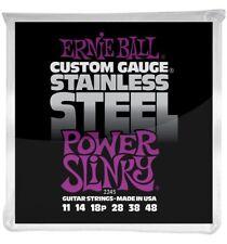 Ernie Ball 2245 Jeu de cordes 11-48 Power Slinky Stainless Steel