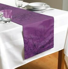 """Purple Embroidered  Table Runner 70"""" x 12""""  (180cms x 30cms)"""