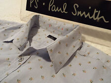 """PAUL SMITH Mens Shirt 🌍 Size L (CHEST 40"""") 🌎 RRP £95+ 📮 FLORAL TEXTURED STYLE"""