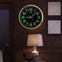 11.8'' Silent Modern Luminous Quartz Wall Clock Glow In The Dark Home Bedroom