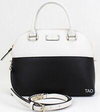 Kate Spade New York Grove Street Carli Handbag Satchel Shoulder Bag Black Cement