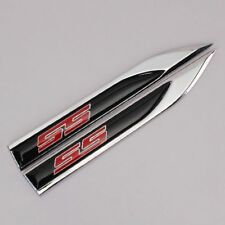 NEW 2pcs Metal for chevy SS Blade FENDER BADGE Emblems Sticker for sport