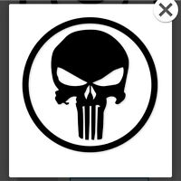 The Punisher Skull Vinyl Decal / Sticker ** 5 Sizes **