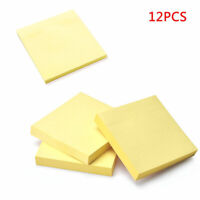 """1200pc Removeable Yellow Sticky Notes 76mm x 76mm 3"""" x 3"""" (12 packs of 100)  UK"""
