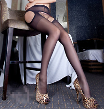 New Sexy Womens Lace Top Thigh-Highs Stockings Garter Belt Suspender Sheer