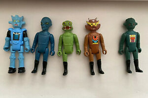 1978 Starroid Raiders Action Figure Space Fighters Tomland Rare Lot of 5