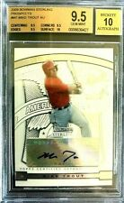 2009 MikeTrout Bowman Sterling Prospects AUTO RC BGS 9.5/10 Mint (3)-9.5/(1)-10