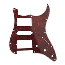 Electric Guitar Pickguard for Fender Strat Replacement Red Tortoise shell HSH