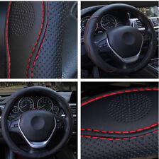 "15"" Red Black Fashion Sport Design Four Seasons Family Car Steering Wheel Cover"