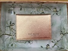 Ted Baker Rose Gold & Pink Leather Oyster ID Card Holder