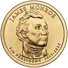2008 JAMES MONROE PRESIDENT DOLLAR P or D MINT 1-COIN BRILLIANT UNCIRCULATED