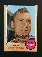 Dave Wickersham Pirates signed 1968 Topps baseball card #288 Auto Autograph 5