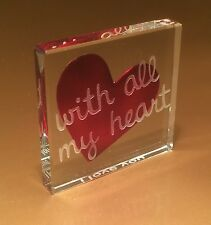 Spaceform With All My Heart Romantic Love Valentines Gift Ideas For Her Him 1585