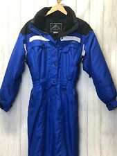 VINTAGE VITESSE by COULOIR WOMEN'S WATERPROOF SNOWSUIT w/HOOD BLUE SIZE 10