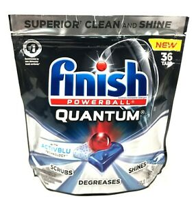 Finish Powerball Quantum Ultimate Clean & Shine Dishwasher Detergent 36 Tabs