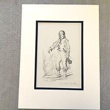 1900 Antique Print Historical Fashion Costume Stuart England King Charles I
