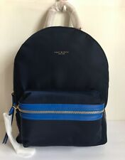 Tory Burch Perry Nylon Color Block Zip Backpack Royal Navy